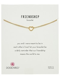 Dogeared Friendship Bracelet Small Open Heart Chain Bracelet Bracelet