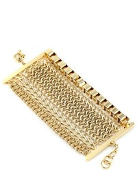 Giuseppe Zanotti Gold Finish Multi Layered Bracelet