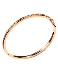 Givenchy Bracelet Rose Gold Tone Silk Swarovski Elet Bangle Bracelet
