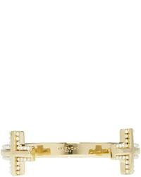 Givenchy Gold T Cut Bracelet