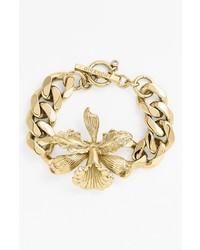 Givenchy Iris Chain Bracelet Gold