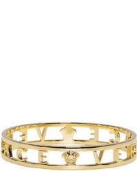 Versace Gold Logo Bangle
