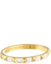 Vince Camuto Gold Plated And Epoxy Pyramid Bracelet