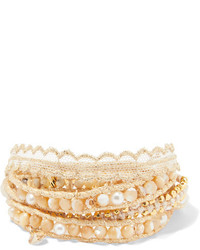 Chan Luu Gold Plated Multi Stone Wrap Bracelet