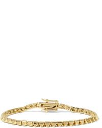 Eddie Borgo Gold Plated Pyramid Bracelet One Size