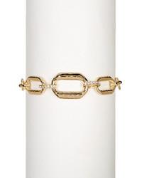 Judith Jack Gold Plated Sterling Silver Chain Link Swarovski Marcasite Studded Bracelet