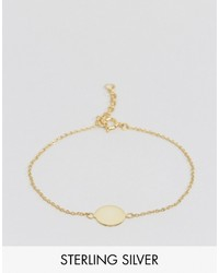Asos Gold Plated Sterling Silver Disc Bracelet