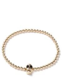 Topman Gold Skull Bead Bracelet