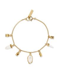 Isabel Marant Gold Tone Bone And Enamel Bracelet