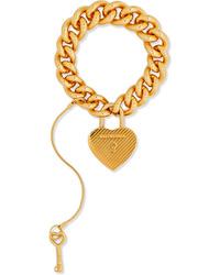 Balenciaga Gold Tone Bracelet