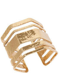 Lucky Brand Gold Tone Open Statet Cuff Bracelet