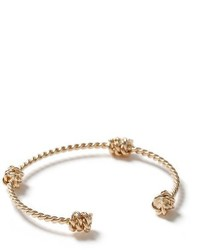 Topman Gold Twist Bangle