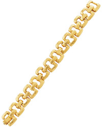 Jose & Maria Barrera Golden Hammered Link Bracelet