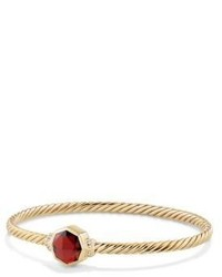 David Yurman Guilin Octagon Bracelet With Garnet And Diamonds In 18k Gold