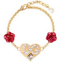 Dolce & Gabbana Heart Logo Charm Bracelet