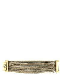 Diane von Furstenberg Hematite Multi Strand Fine Chain Bracelet