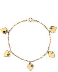 Jennifer Meyer 18 Karat Gold Multi Stone Bracelet One Size