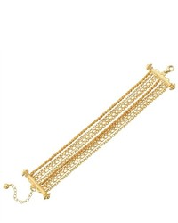 Joolwe 18k Gold Over Sterling Silver Multi Chain Renaissance Bracelet