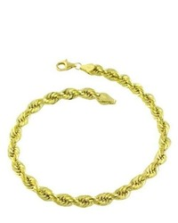 Katarina 10k Yellow Gold Seamless Rope Polished Bracelet