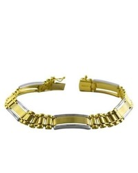 Katarina 14k Two Tone Gold Fashion Bracelet 825