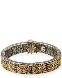 Konstantino Artemis Pave Rhodolite Hinged Bangle Bracelet