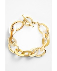 Lauren Ralph Lauren Horn Chain Toggle Bracelet Horn Gold