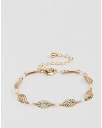 Asos Leaf Chain Bracelet