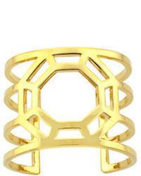 Louise Et Cie Metal Octagon Open Cuff Bracelet