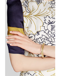 Alexis Bittar Lucite Bangle With Gold Plated Embellishts