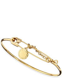 Marc by Marc Jacobs Safety Pin Bracelet Golden