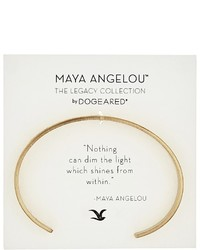 Dogeared Maya Angelou Nothing Can Dim The Light Cuff Bracelet Bracelet