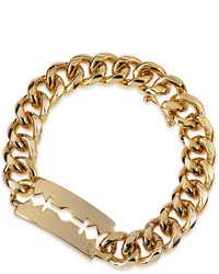 McQ by Alexander McQueen Mcq Alexander Mcqueen Chunk Chain Large Razor Blade Id Bracelet Golden
