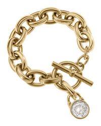 Michael Kors Chain Link Padlock Bracelet Golden Michl Kors