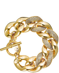 Michael Kors Michl Kors Pave Curb Chain Link Bracelet