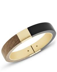 Michael Kors Michl Kors Wooden Hinged Bracelet Black