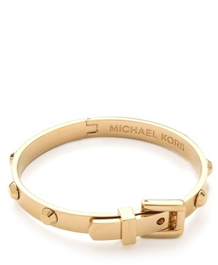 b14aa2cdf5e8 ... Gold Bracelets Michael Kors Michl Kors Astor Buckle Bangle ...
