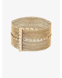 Michael Kors Michl Kors Gold Tone Multi Chain Baguette Bracelet