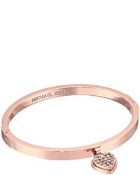 Michael Kors Michl Kors Micro Muse Microstud Heart Hinged Bracelet Bracelet