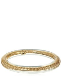 Diane von Furstenberg Moon Unit Omega Snake Chain Clear Bangle Bracelet