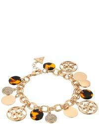 GUESS Multi Disc Charm Logo Bracelet Bracelet