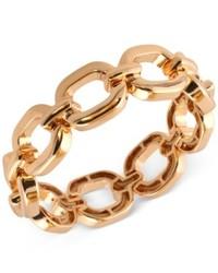 Nine West Gold Tone Linked Stretch Bracelet