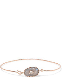 Pascale Monvoisin Orso N1 9 Karat Rose Gold Labradorite And Diamond Bracelet