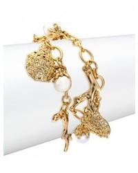 Oscar de la Renta Urchin Faux Pearl Charm Bracelet