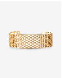 Express Perforated Metal Cuff Bracelet