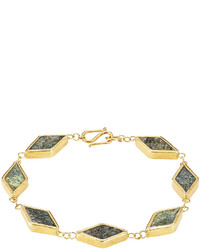 Pippa Small Gold Plated Silver Bracelet With Chrysocolla