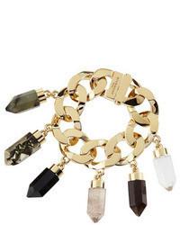 Givenchy Point Crystal Charm Bracelet