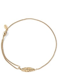 Alex and Ani Precious Metals Symbolic Feather Pull Chain Bracelet