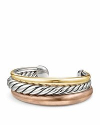 David Yurman Pure Form Three Row Bangle Bracelet