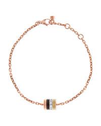 Boucheron Quatre Classique 18 Karat Rose Yellow And White Gold Diamond Bracelet