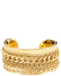 Rivka Friedman 18k Gold Clad Bold Multiple Chain Cuff